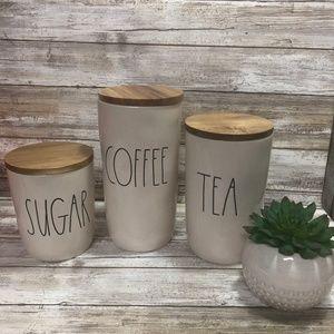 Rae Dunn Coffee Cellar Sugar Cellar Tea Cellar